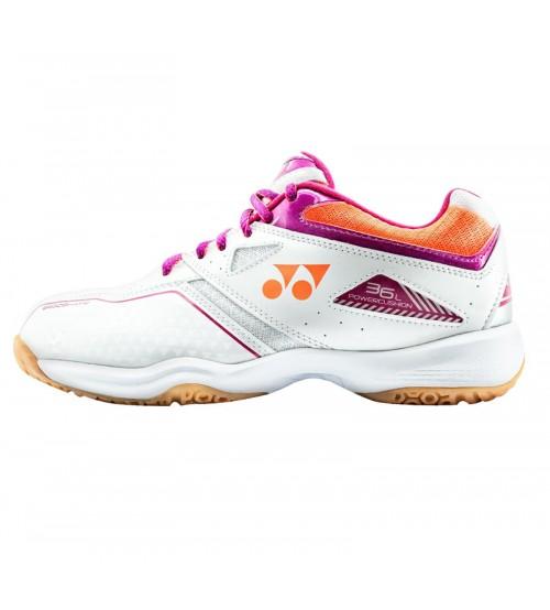 Yonex SHB 36LEX 白/粉色 羽毛球鞋 (碼數: 37.5,40-41)包运费价,不包税.( 香港及大陆地区) <<赠品 : 袜子1双(价值HK$45.-) 送完即止>>