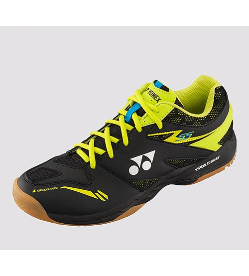 Yonex SHB 55EX 黑/黃色 羽毛球鞋 (碼數: 37.5)包运费价,不包税.( 香港及大陆地区) <<赠品 : 袜子1双(价值HK$45.-) 送完即止>>