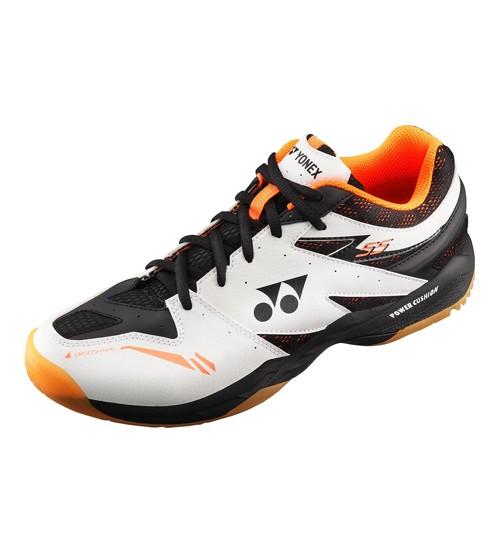 Yonex SHB 55EX 白/橙色 羽毛球鞋 (碼數: 39.5, 40.5)包运费价,不包税.( 香港及大陆地区) <<赠品 : 袜子1双(价值HK$45.-) 送完即止>>