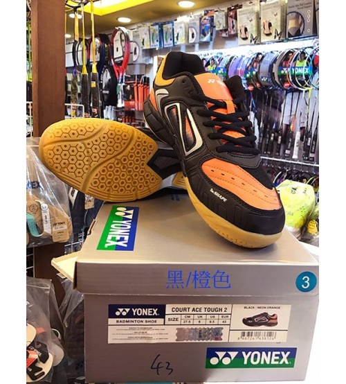 Yonex Court Ace Tough 2 黑橙色 羽毛球鞋