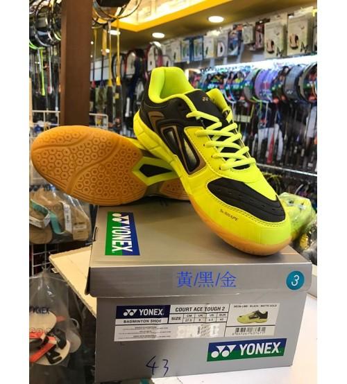 Yonex Court Ace Tough 2 黃黑金色 羽毛球鞋 (碼數: 39.5-45)包运费价,不包税.( 香港及大陆地区) <<赠品 : 袜子1双(价值HK$45.-) 送完即止>>