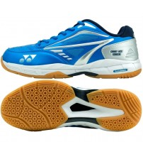 Yonex Court Ace Tough 藍銀色 羽毛球鞋(碼數: 37.5, 44.5) 包运费价,不包税.( 香港及大陆地区) <<赠品 : 袜子1双(价值HK$45.-) 送完即止>>
