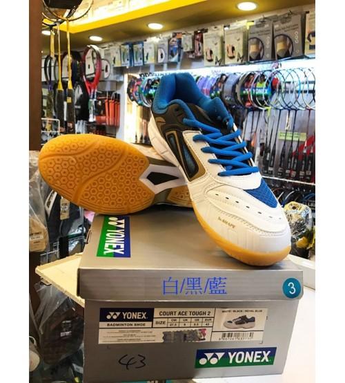 Yonex Court Ace Tough 2 白黑藍色 羽毛球鞋